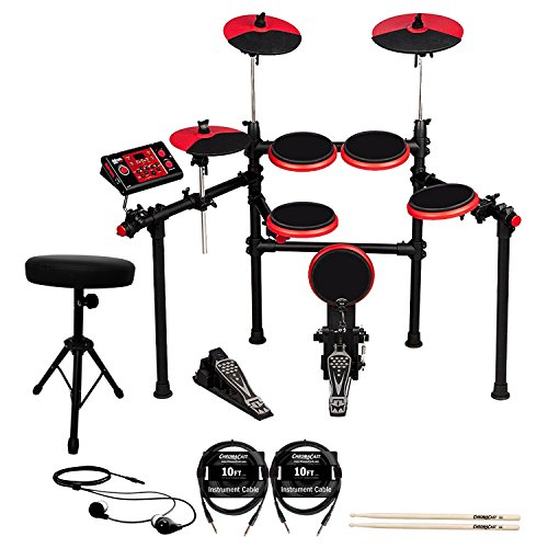 DD1 Plus Complete Electronic Drum Kit with ChromaCast (Ddrum Electronic Drum Set)