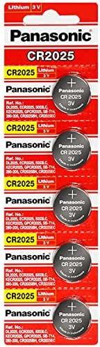 Panasonic CR2025 3 Volt Lithium Coin Battery 25 Pack