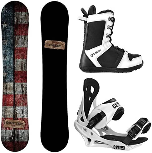 Camp Seven 2020 Drifter and Summit Men s Complete Snowboard Package New