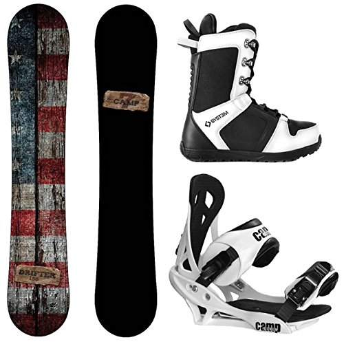 Snowboard 163cm - Camp Seven Drifter and Summit Men's Complete Snowboard Package New (163 cm Wide, Boot Size 13)