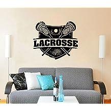 Lacrosse Wall Decal Vinyl Stickers Decals Mural Home Decor Sport Stamp Logo Emblem Nursery Bedroom Dorm Window Boy Gift Kids Room ZX160
