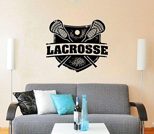 Die Cut Wall (Lacrosse Wall Decal Vinyl Stickers Decals Mural Home Decor Sport Stamp Logo Emblem Nursery Bedroom Dorm Window Boy Gift Kids Room ZX160)
