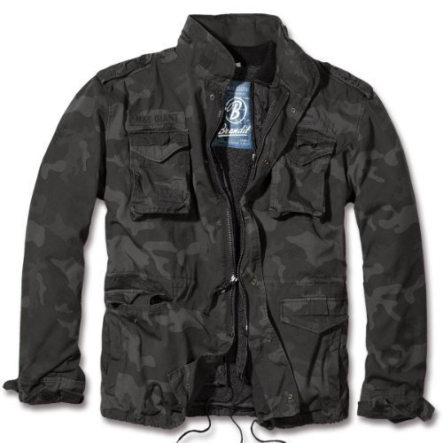 Brandit Men's M-65 Giant Jacket Dark Camo Size L, used for sale  Delivered anywhere in USA