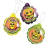 Mylar Christian Pumpkin Self-Iating Balloons (With Sticky Notes)