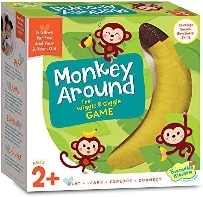 [해외]평화로운 왕국 원숭이 주변 - 2살을 위한 위글 & 기글 무브먼트 게임 / Peaceable Kingdom Monkey Around - The Wiggle & Giggle Game of Movement for 2-Year-Olds