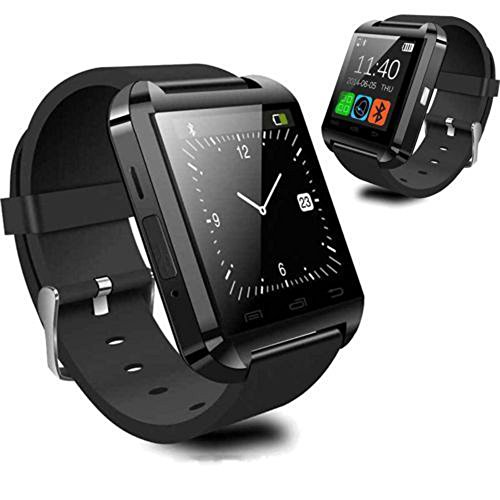 LuxsureBluetooth Smart Watch WristWatch U8 UWatch Fit for Smartphones IOS Android Apple iphone 44S55C5S Android Samsung S2S3S4Note 2Note 3 HTC Sony Blackberry(Black)