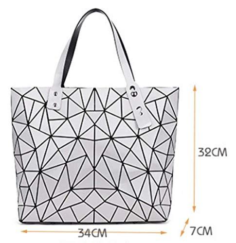 Mujeres La Moda Silver Bolsos Del De Geométrica Los Lingge Las Viaje Hombro Bolso Manera H4WIEqS