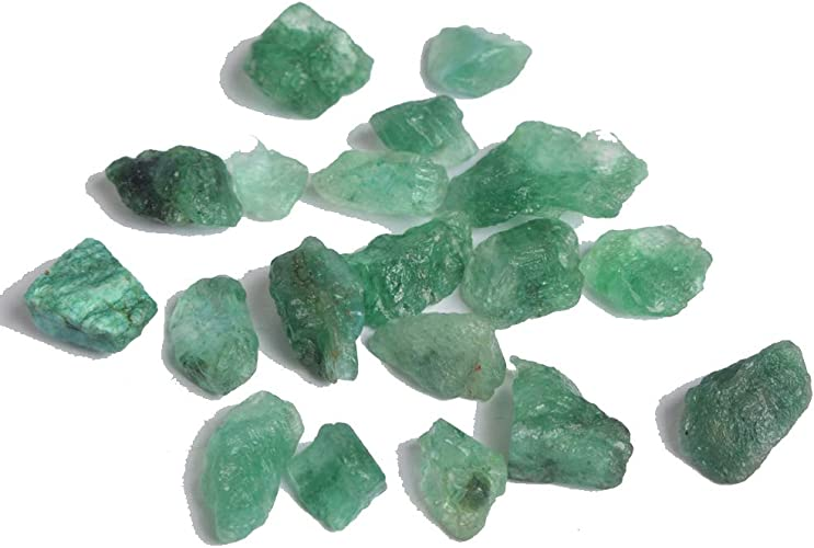 Natural Red Ruby Blue Sapphire Green Emerald Rough Gemstone Lot