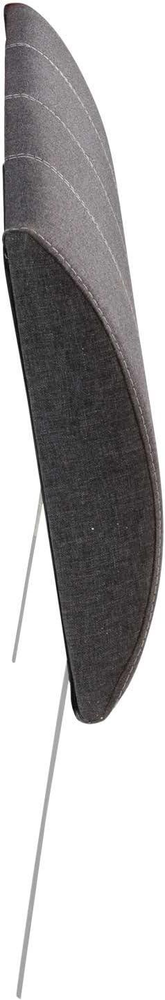 Webstoffbezug Anthrazit Breite 100 cm Kopfteil Polsterkopfteil
