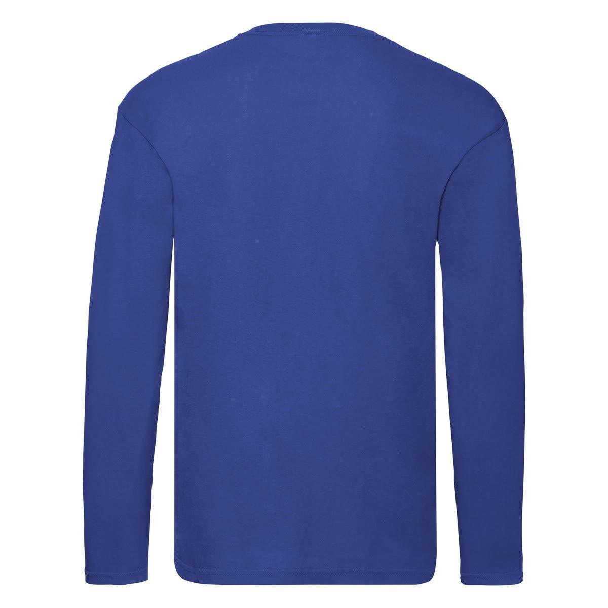 T-Shirt Maniche Lunghe Uomo Maglia 100/% Cotone Fruit of The Loom Original T LS