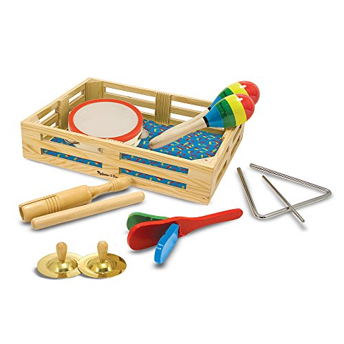 51m5sypvhVL - Melissa & Doug Band-in-a-Box Clap! Clang! Tap! - 10-Piece Musical Instrument Set