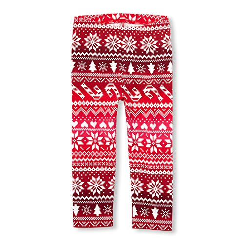 The Children's Place Baby Girls Printed Leggings, Dark Tamale 4434 4T by The Children's Place (Image #1)