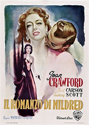 Posterazzi Pierce (Aka Il Romanzo Di Mildred) Italian Art from Left: Joan Crawford Zachary Scott 1945 Movie Masterprint Poster Print (11 x 17)
