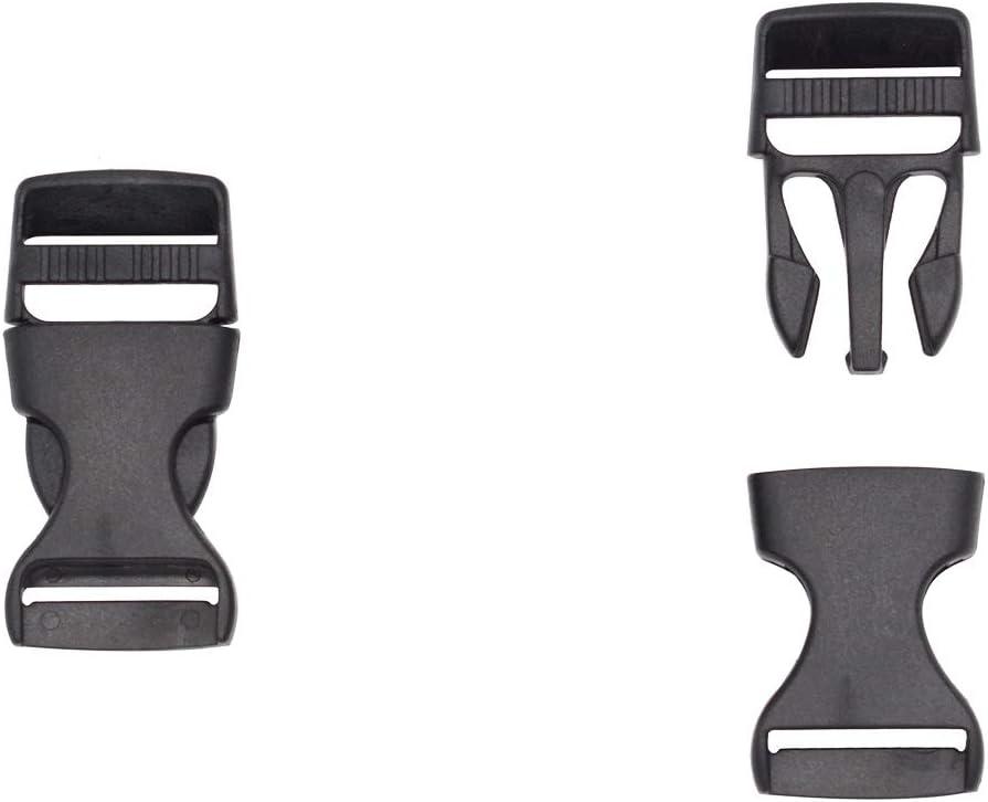 5pcs Noir Tri-Glide Curseur Boucle r/églable pour Sacs Sangles 15mm