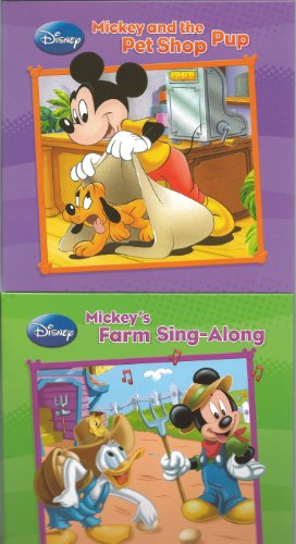 Disney's Mickey Mouse & Friends Book Set of 4 (Mickey and the Pet Shop Pup, Mickey's Farm Sing-Along, Minnie Red Riding Hood, The Three Musketeers) ()