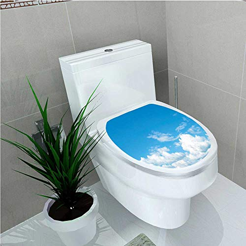 aolankaili Bathroom Toilet The Vast Cloudy Sky Scenics Windy Weather Calming View Panoramic Picture Blue White W13 x - University Photo Panoramic