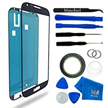 MMOBIEL Front Glass for Samsung Galaxy S4 i9500 i9505 Series (Black) Display Touchscreen incl 12 pcs Tool Kit / Pre-cut Sticker / Tweezers/ Roll of 2mm Adhesive Tape / Suction Cup / Metal Wire / Microfiber cleaning cloth / Manual