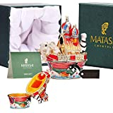 Matashi Hand Painted Trinket Box | Hand-Painted Jewelry Holder with Elegant Crystals |Collectible Figurine & Decorative Living Room Jewelry Holder (Noah's Ark)