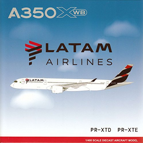 Jcw40017a 1 400 Jc Wings Latam Airlines Airbus A350 900 Reg  Pr Xtd Flaps Down Version  Pre Painted Pre Built