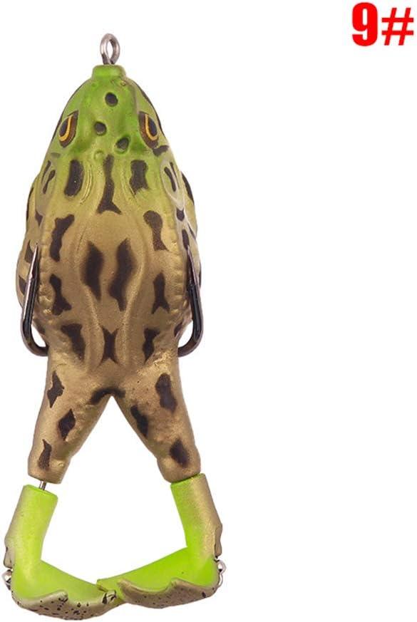CYGG Se/ñuelo de pesca con rana de 9 cm de altura para nadar y practicar deportes al aire libre