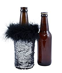Silver Sequin Sleeve Bottle Coolers