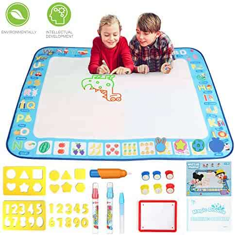 Drawing Mat Painting Large Magic Water Mat Suitable For 2 3 4 5 Years Boys Girls For Old Children Creative Educational Toys Gifts Painting Water Magic Mat 40 X 30 Inches Toddler Toys