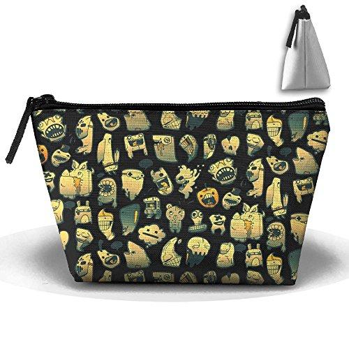 Unisex Stylish And Practical Strange Pumpkin Shark Creature Party Trapezoidal Storage Bags Handbags