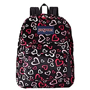 Jansport Superbreak Pink Tulip Lots of Love