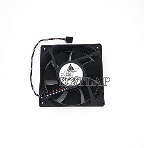 DBTLAP Laptop CPU Fan Compatible for Dell Y4574 NN495 D8794 YK550 Optiplex 210L 320 360 330 520 620 740 745 755 760 case Fan PV123812DSPF AFC1212DE 12012038MM