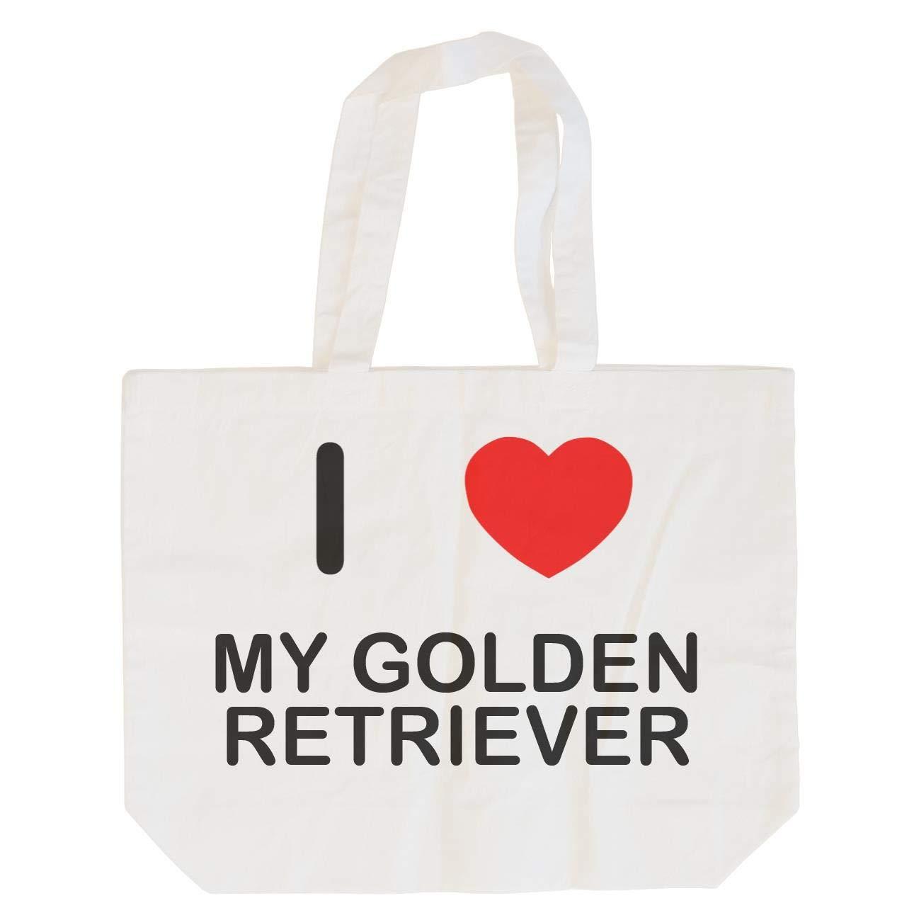 I Love My Golden Retriever Cotton Long Handle Sling Bag