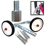 Coyote Kids Bike Universal Fit Stabiliser Set & 10mm Gear Extension Bolt - 12-20'' Wheels