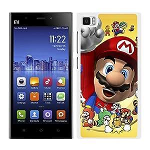 FUNDA CARCASA PARA Xiaomi Mi3 DISEÑO SUPER MARIO VIDEOJUEGO BORDE BLANCO