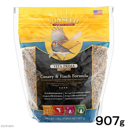Sunseed Company Vita Prima Canary Finch Formula Pet Accessories 2 Pounds -