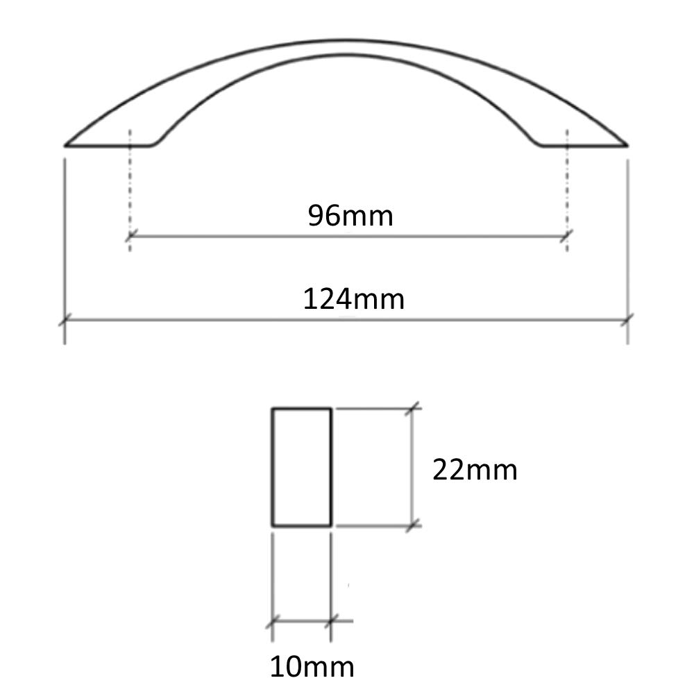 AERZETIX 5x Tirador para caj/ón alacena puerta mueble armario Chiem plata mate 96mm C41715