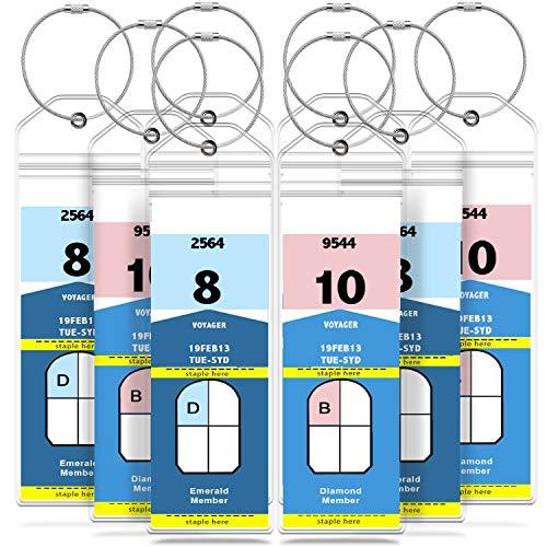 GreatShield Luggage Tags, Weatherproof Zip Seal & Steel Loop