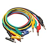 5Pcs 1M 4mm Silicone Banana Plug to Crocodile Alligator Clip Test Probe Lead - Best Reviews Guide