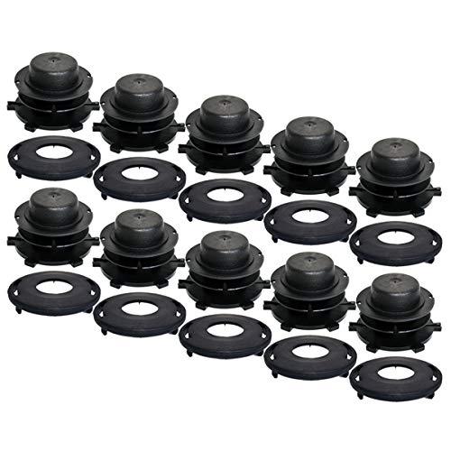 10PK Replacement Trimmer Head Spool Cap Fits Stihl 25-2 FS 44 55 80 83 85 90 100 110 120 130 200 250 KM 55 85 90 110 - Head Trimmer Spool