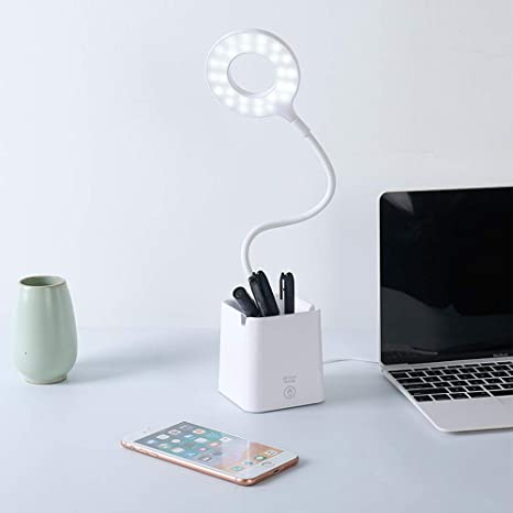 Multifunction Led Table Lamp Touch Sensor Desk Lamp Stepless Dimming Usb Rechargeable Night Light Eye Protection For Study Desk Lamps Lamps & Shades