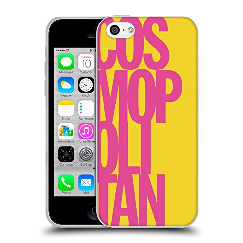 Official Cosmopolitan Pink Stacked Logo Soft Gel Case for Apple iPhone 5c