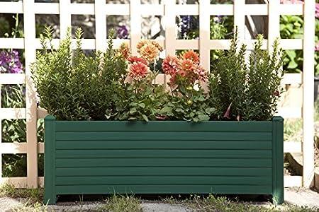 Jardinera GREENLAND 88x32x33 cm. Color: Verde: Amazon.es: Hogar