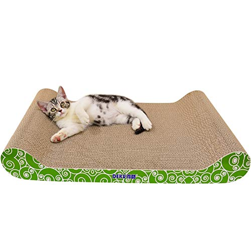 Cat Bed or Sofa hyx CP-417 Backless Cat Sofa Corrugated Paper Cat Scratch Board Grinding Claw Toy, Size  69.5x38.5x9.5cm