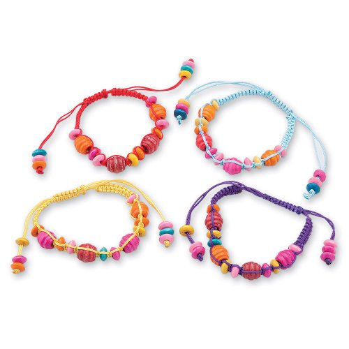 36 Bracelets Friendship (SmileMakers 36 Wooden Bead Friendship Bracelets)