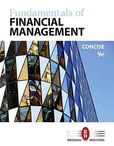 Fundamentals of Financial Management, Concise Edition (MindTap Course List)