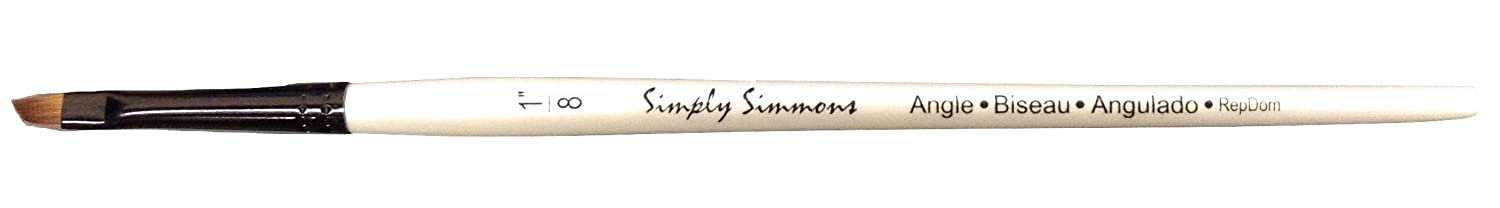 Robert Simmons Simply Simmons Brushes Short Handle angle shader 1/8 in. SIMMONS/ROWNEY