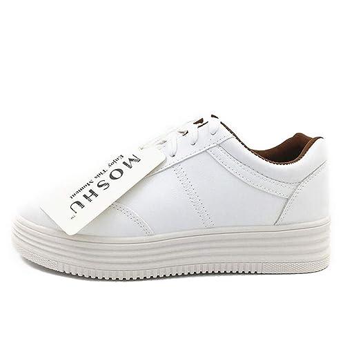 Plataforma de Plataforma de Mujer Zapatillas de Cordones cómodas Zapatillas Informales: Amazon.es: Zapatos y complementos