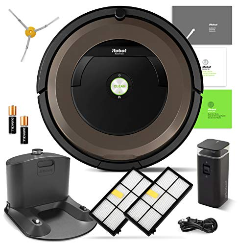 iRobot Roomba 890 Robot Vacuum Bundle- Wi-Fi Connected, Ideal for Pet Hair (+1 Extra Edge-Sweeping Brush, 1 Extra Filter)