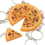 Pizza Pendant Key Chain - CINRA 20pcs Pizza Pendant Key Chain Buckle Purse Bag Charm Key Jewelry Chic Accessories Ornaments