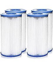 Pool Filters Type A/C, Swimming Pool Filter Pump Easy Set Replacement Pool Filter Cartridge Type A/C, Pool Filter Cartridges for Pool Cleaning
