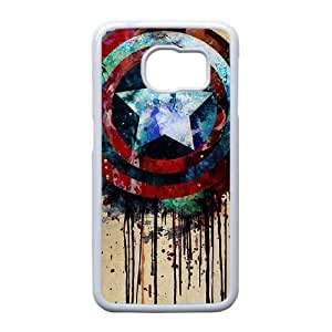 Samsung Galaxy S6 Edge case (TPU), captain america shield tattoo Cell phone case White for Samsung Galaxy S6 Edge - FFFG4158798