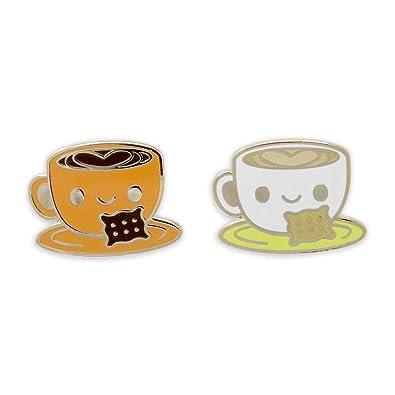 WIZARDPINS Happy Coffee Mug Heart Latte Heart Enamel Pins